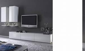 Meuble Tv Design Blanc Laqué : meuble tv bas blanc laqu mobilier design d coration d 39 int rieur ~ Teatrodelosmanantiales.com Idées de Décoration