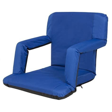 portable reclining seat padded cushion cing chair