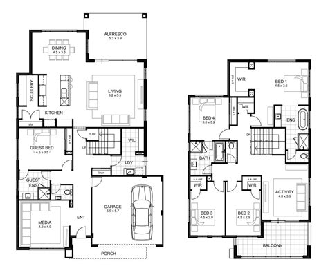 home floor plans 5 bedroom house five bedroom home plans at home