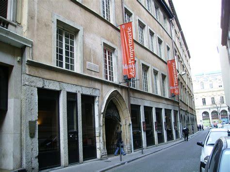les chambres de l imprimerie le musée de l 39 imprimerie musée lyon