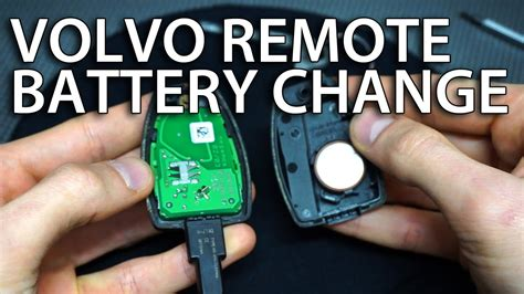 change volvo remote battery     replace