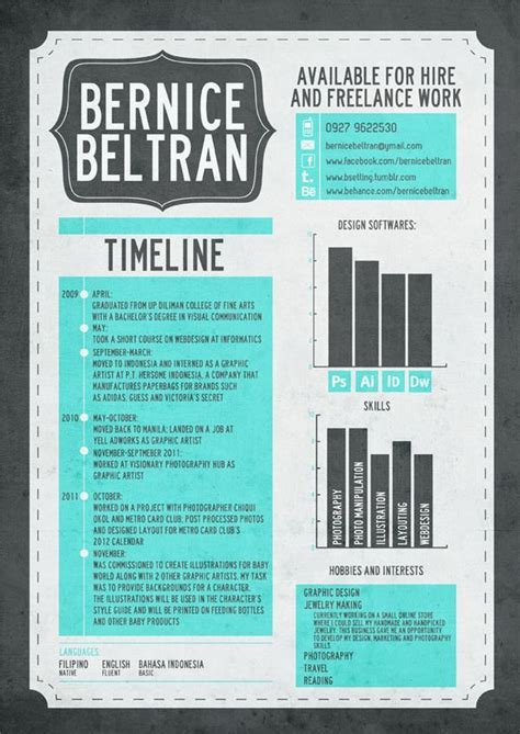 Most Creative Graphic Design Resumes by 17 Best Images About Resume Design Layouts On