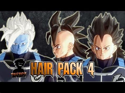 dragonball xenoverse  hair pack  mod tryzick youtube