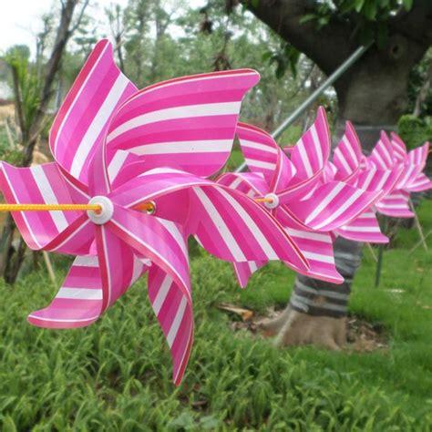 Deko Garten Plastik by Windrad Basteln Ideen Plastik Pink Wei 223 Streifen Garten