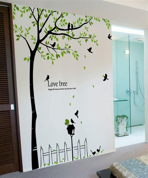 Birds Mailbox Tree Wall Decals   wallstickery.com