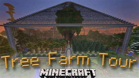 greatest minecraft treefarm  treehouse  built youtube