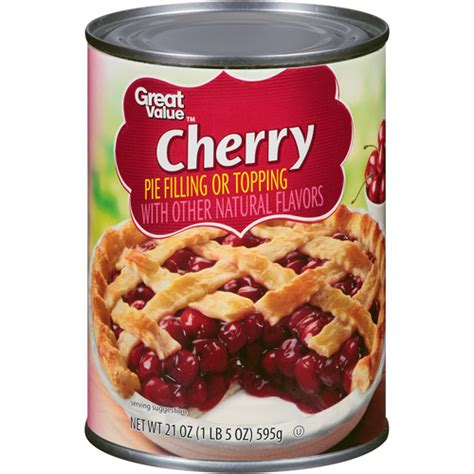 apple cherry pie filling great value cherry pie filling or topping 21 oz walmart com