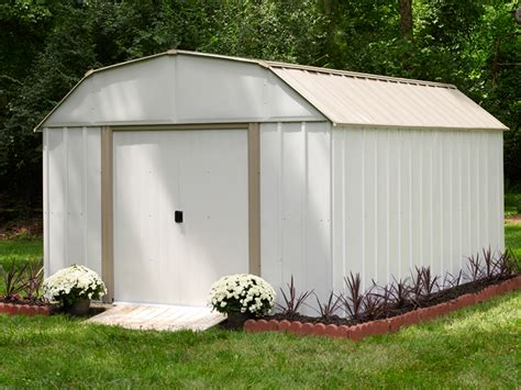 Arrow Galvanized Steel Storage Shed 10x12 by Arrow Lx1014 C1 10 X 14 Barn Roof Storage Building