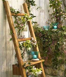 Grüne Wand Selber Bauen : blumenst nder selber bauen alte holzleiter als blumenleiter pflanzen in nanopics ~ Bigdaddyawards.com Haus und Dekorationen