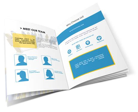 8 5x11 Brochure Template 12 Pages 8 5x11 Brochure Mockup Cover Actions Premium