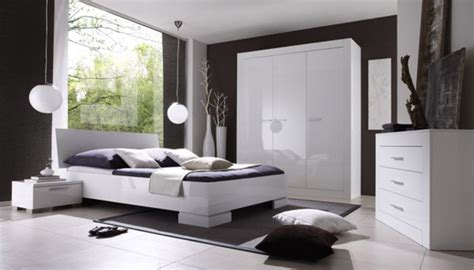chambre a coucher adulte design commode 3 tiroirs amalfi chambre à coucher blanc brillant