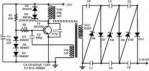 2 10 Kv High Voltage Generator Circuit With 2n3700