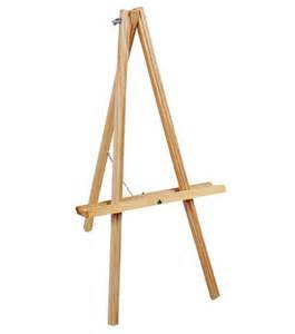 Decorative Easel by Natural Wood Tabletop Easel 20 High Art Easels Joann