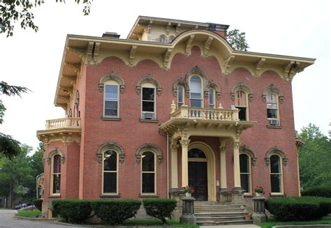 italianate style house the picturesque style italianate architecture the george l bidwell house adrian mi