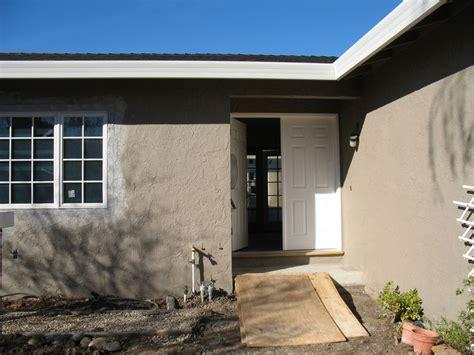 the exterior paint color is dunn edwards bison beige