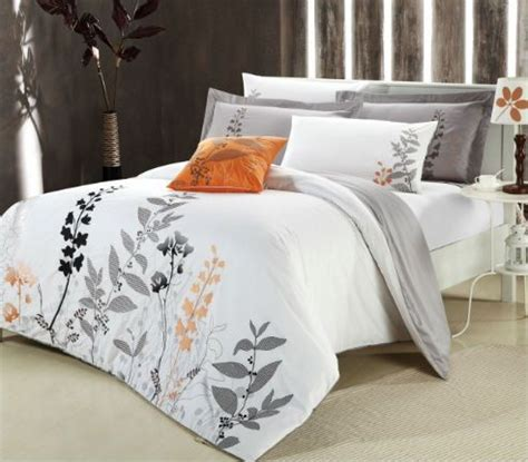 Neutral Bed Covers by Neutral With Black And Orange Bedding