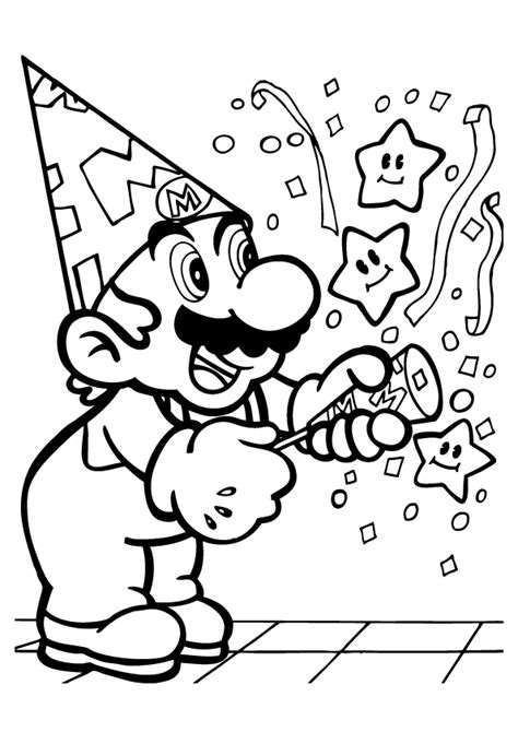 mario characters coloring pages coloring home
