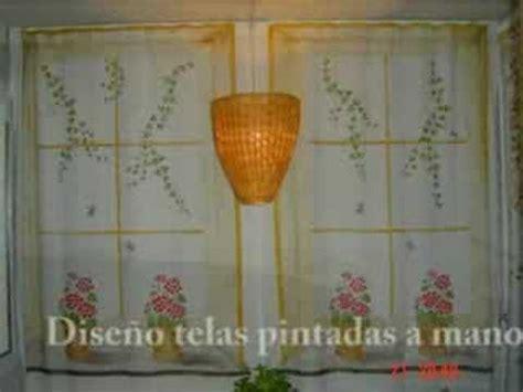 cortinas pintadas cortinas pintadas a mano youtube