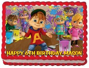 pin alvin and the chipmunks mcdonalds set of 2 cake toppers ebay cake on