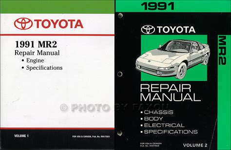 best car repair manuals 2001 toyota mr2 electronic valve timing 1991 toyota mr2 repair shop manual factory reprint 2 volume set