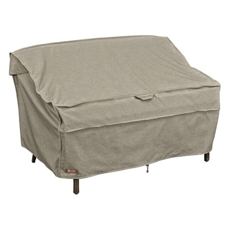 small outdoor loveseat classic accessories montlake small patio loveseat sofa cover