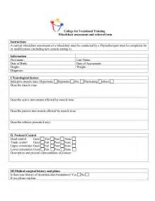 Motorized Wheel Chair by Wheel Chair Assessment Form