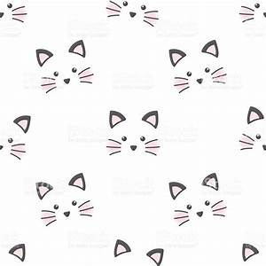 Cute Cat Face Stock Vector Art & More Images of Animal ...
