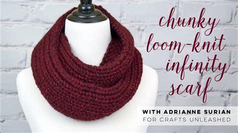chunky loom knit infinity scarf tutorial youtube