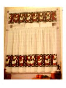 fat chefs kitchen curtains tiers valance set