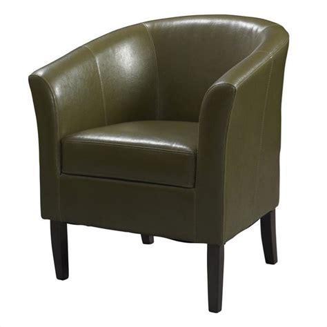 faux leather club chair in cedar 36077ced 01 as u