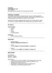 personal statement for a resume how to write a personal statement for resume sles of resumes