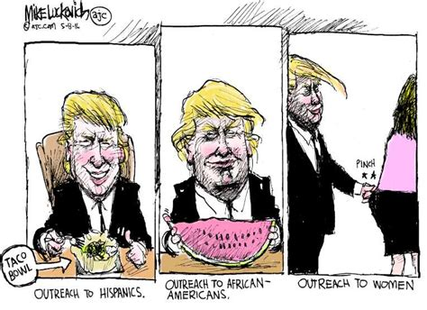 Political Cartoon On 'trump Determined To Unite Party' By