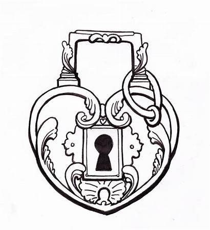 Lock Heart Drawings Tattoo Deviantart