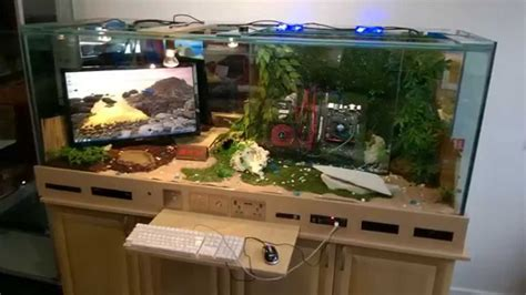 building a gaming desk gaming pc reptile tank i7 pc built into desk gaming