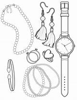 Coloring Pages Jewelry Necklace Sheets Beads Print Twofer Baubles Printable Bracelet Earrings Clrg Pearl Template Ariel Prof Lora Roberts Uploaded sketch template