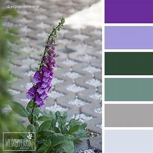 Wandfarbe Grün Palette : farbpalette fingerhut violett gr n grau wildpeppermint design ~ Watch28wear.com Haus und Dekorationen