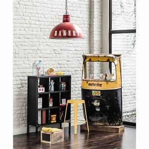Meuble Bar Maison Du Monde : meuble de bar en m tal jaune noir l 95 cm touk touk ~ Nature-et-papiers.com Idées de Décoration