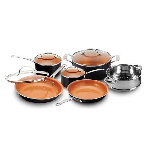gotham steel copper nonstick black cookware set     tv products  walmart