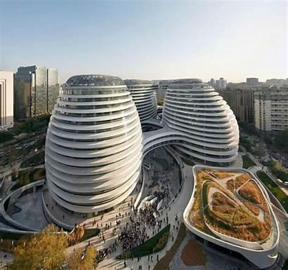 Hadid Zaha Buildings Iconic Soho Galaxy Hufton