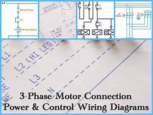 Three Phase Motor Power  U0026 Control Wiring Diagrams