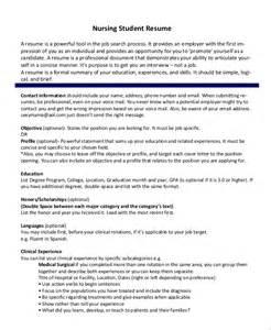 resumes for nursing internships sle nursing student resume 8 exles in word pdf