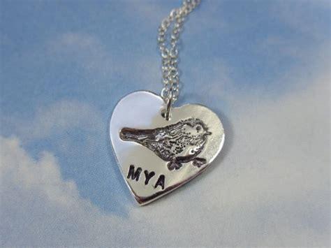 Personalized My Little Chickadee Necklace  Handmade Heart