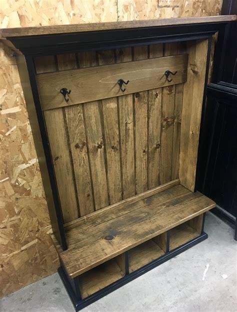 childrens hall tree cubby bench  coat rack storage unit