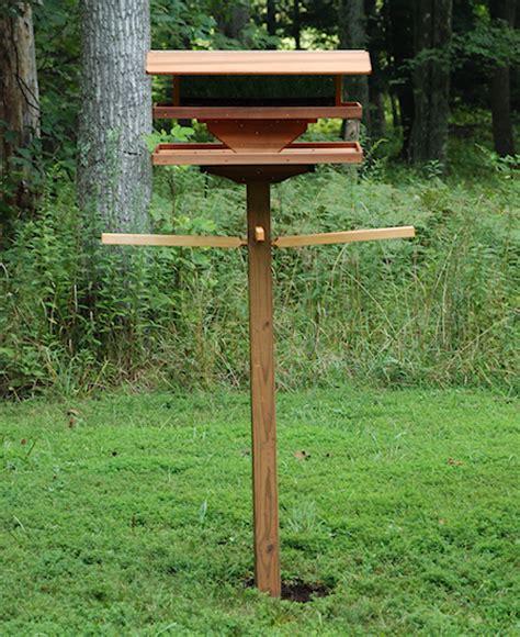 diy bird feeder pole how to make a wood bird feeder pole build lawn mower