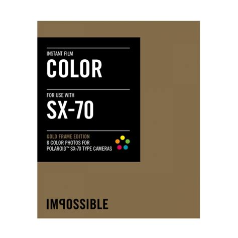 Impossible Instant - impossible instant color with gold frames for sx 70