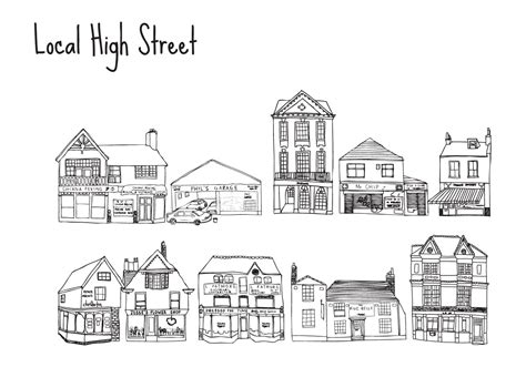 Ee  Free Ee   High Street Shops Vectors