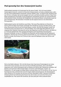 Pool Kaufen Günstig : pool guenstig fuer den sommerjetzt kaufen ~ Articles-book.com Haus und Dekorationen