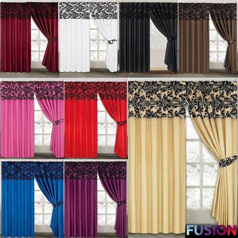 window curtains drapes luxury damask curtains pair of half flock pencil pleat