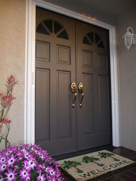 double front entry doors ideas  pinterest