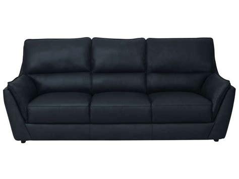 canapé en cuir conforama canapé fixe en cuir 3 places coloris noir